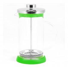 Чайник/кофейник (кофе-пресс) стеклянный, серия Verde, 350 мл, цвет - зеленый