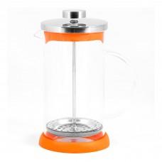 Чайник/кофейник (кофе-пресс) стеклянный, серия Arancio, 350 мл, цвет - оранжевый