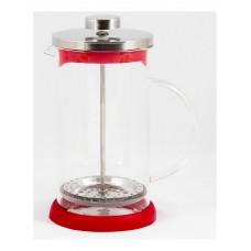 Чайник/кофейник (кофе-пресс) стеклянный, серия Rubino, 600 мл, цвет - красный