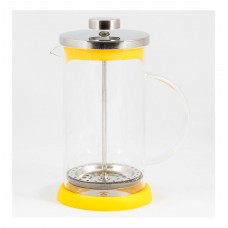 Чайник/кофейник (кофе-пресс) стеклянный, серия Flavo, 600 мл, цвет - жёлтый