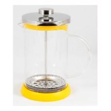 Чайник/кофейник (кофе-пресс) стеклянный, серия Flavo, 800 мл, цвет - жёлтый