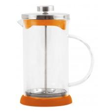 Чайник/кофейник (кофе-пресс) стеклянный, серия - Arancio, 1000 мл, цвет - оранжевый