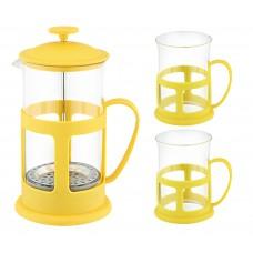 Набор Чайный/кофейный (кофе-пресс и 2 чашки), серия Variato-set, 600 мл/200 мл, цвета в ассортименте