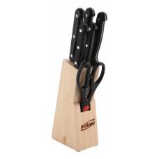 Набор ножей из нерж. стали 7 предметов, ручка пластик, модель MAL-S01B
