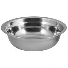 Миска Bowl-19, объем 1 л, с расширенными краями, из нерж стали, зеркальная полировка, диа 19 см