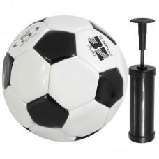Мяч футбольный и насос BL-2001 (№5, 2 цвет., машин. строчка, ПВХ)