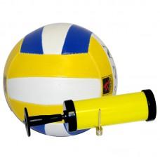 Мяч волейбольный и насос BL-5007 (№5, 3 цвет., машин. строчка, ПВХ)