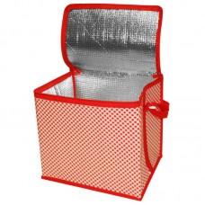 Термосумка (в клетку) CBK-15  (~15 литров), Размер: 28x21x25 см