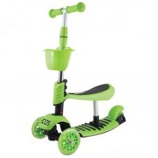 Самокат детский 3-колесный 3 в 1 ES-M002-зеленый
