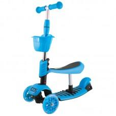 Самокат детский 3-колесный 3 в 1 ES-M002-синий