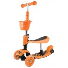Самокат детский 3-колесный 3 в 1 ES-M002-оранжевый
