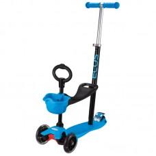 Самокат детский 4-колесный (3 в 1) ES-M001A-синий
