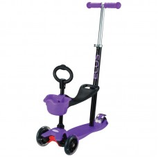 Самокат детский 4-колесный (3 в 1) ES-M001A-пурпурный