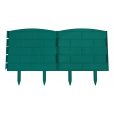 Забор-бордюр декорат. универс.  для клумб и грядок 5 секций l=1,2м, h=22см, КД-20/1(цвет в ассорт.)