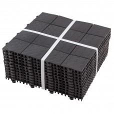 """Покрытие модульное """"Плитка"""" для улиц и помещений 0,9 кв.м. (10 шт по 30*30см)  цв.черный"""