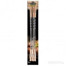 Шампуры с деревянными ручками ECOS 23021D (набор из 6 штук), нерж.