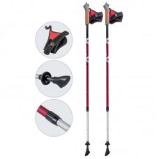 Палки для скандинавской ходьбы телескопические, AQD-B016 red-met
