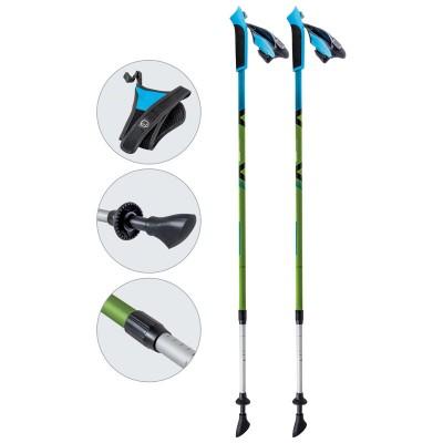 Алюминиевые телескопические палки для скандинавской ходьбы, AQD-B017 green