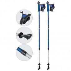 Палки для скандинавской ходьбы телескопические, AQD-B017 blue