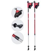Алюминиевые телескопические палки для скандинавской ходьбы, AQD-B017 red