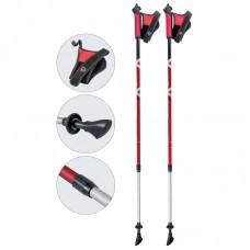 Палки для скандинавской ходьбы телескопические, AQD-B017 red