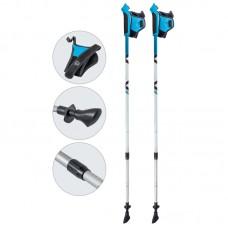 Палки для скандинавской ходьбы телескопические, AQD-B020 azure