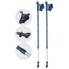 Палки для скандинавской ходьбы телескопические, AQD-B020 blue