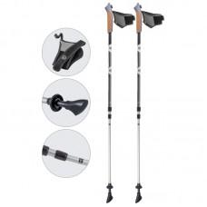 Палки для скандинавской ходьбы телескопические, AQD-B021 gray-met