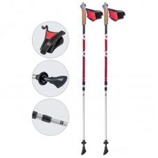 Палки для скандинавской ходьбы телескопические, AQD-B021 red-met