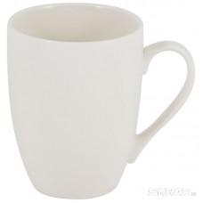 Кружка фарфоровая, цвет - белый, объем 0,336 л, серия Piatto, без тм