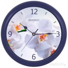 Часы настенные кварцевые ENERGY модель ЕС-110 орхидея