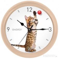 Часы настенные кварцевые ENERGY модель ЕС-113 кот