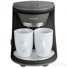 Кофеварка ENERGY EN-605 черная 450Вт, две чашки