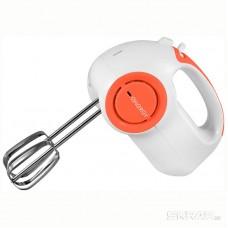 Миксер ENERGY EN-296 бело-оранжевый, 5 скоростей, 150 Вт