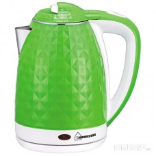 Чайник Homestar HS-1015 (1,8 л) зелено-белый, двойной корпус