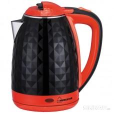 Чайник Homestar HS-1015 (1,8 л) черно-красный, двойной корпус