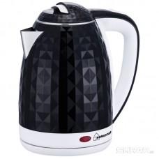 Чайник Homestar HS-1015 (1,8 л) черно-белый, двойной корпус