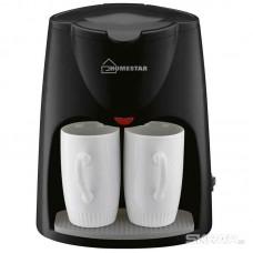 Кофеварка HOMESTAR HS-2020 черная 500Вт, две чашки
