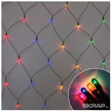 """Электрогирлянда """"Сетка"""" R/Net-160-MC (160 рисовых ламп, 0,9 *1,5 м, 8режимов, многоцвет)"""