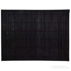 Салфетка сервировочная из бамбука BM-04, цвет: чёрный, подложка: EVA