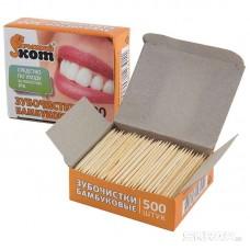 Зубочистки TP-500/IP, в коробке, бамбуковые, 500 штук