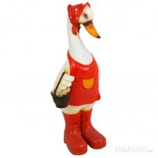 Фигурка садовая «Гусыня с корзинкой» GF- Duck-02 материал: полистоун, высота: 32 см