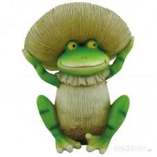 Фигурка садовая «Лягушка-грибок», GK-FrM-95, материал: полистоун, размеры: 16*13,5*19,2 см