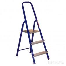 Стремянка стальная с алюминиевыми ступенями 3 ступ. Алюмет