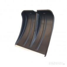 Ковш снег. пластм. для сборки лопаты 385*380 (тулейка 32мм), с мет. пл, с алюм. чер. (Заря)(№6)