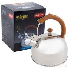 Чайник из нержавеющей стали Mallony DJB-3293 (3,0 литра, со свистком, капсульное дно)