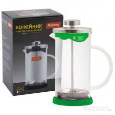 Чайник/кофейник (кофе-пресс) стеклянный, 1000 мл, серия Nero,  цвет - черный