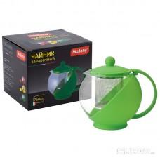 Чайник заварочный Variato, литраж - 750 мл (стекло, пластик корпус, металл.ситечко), цвета в ассорт.