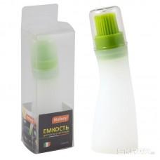 Емкость для масла с кисточкой CAPACITA, (силикон, пластик), размер: 4*13 см, Mallony