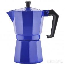 Гейзерная кофеварка алюминиевая на 6 чашек, окрашенный корпус, серия Grande, тм Mallony